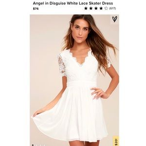 Angel in Disguise White Lulus Dress
